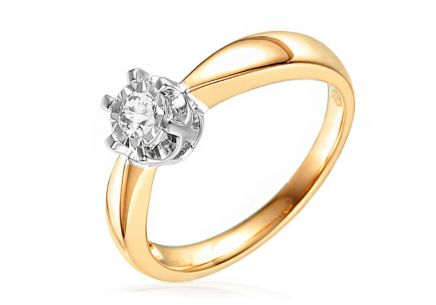 Gold Engagement Ring with Diamond Rasha