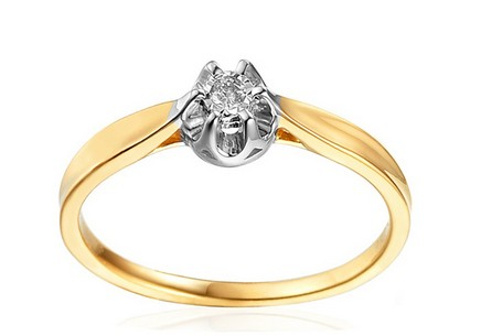 Gold Engagement Ring with Diamond Vivian