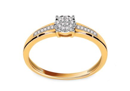 Gold Engagement Ring with Diamonds 0.050 ct Moira