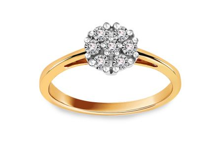 Gold Engagement Ring with Diamonds 0.060 ct Nalanie
