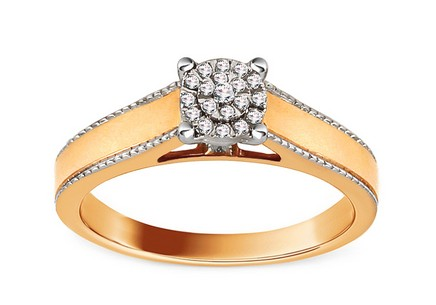 Gold Engagement Ring with Diamonds 0.080 ct Kaethe