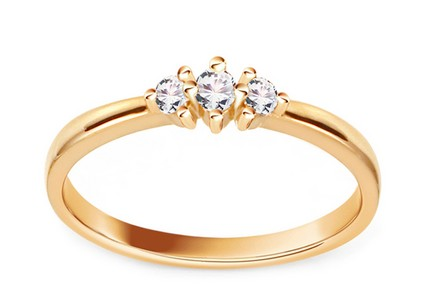 Gold Engagement Ring with Diamonds 0.100 ct Osana