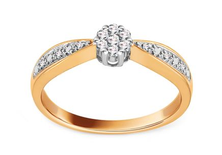 Gold Engagement Ring with Diamonds 0.100 ct Rheanna