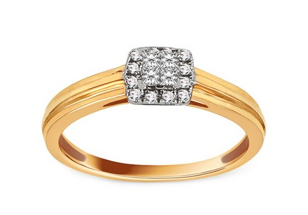 Gold Engagement Ring with Diamonds 0.120 ct Eavana