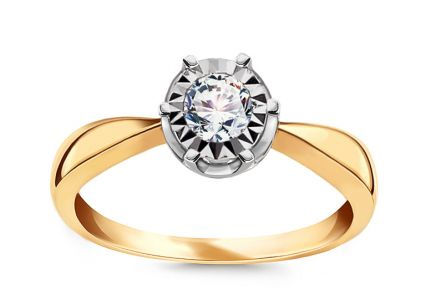 Gold Engagement Ring with Diamonds 0.150 ct Wynona