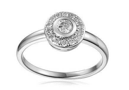 Gold Engagement Ring with Diamonds 0.200 ct Karry