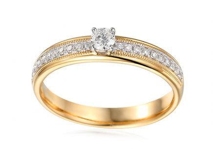 Gold Engagement Ring with Diamonds 0.230 ct Kyrena