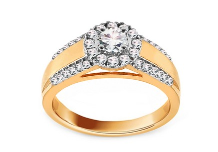 Gold Engagement Ring with Diamonds 0.610 ct Tailyn