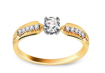 Gold Engagement Ring with Diamonds Hannah
