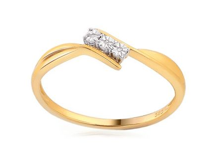 Gold Engagement Ring with Diamonds Haya