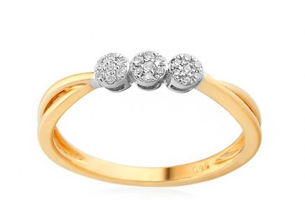 Gold Engagement Ring with Diamonds Jaimie