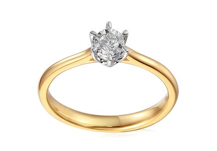 Gold Engagement Ring with Diamonds Jalene