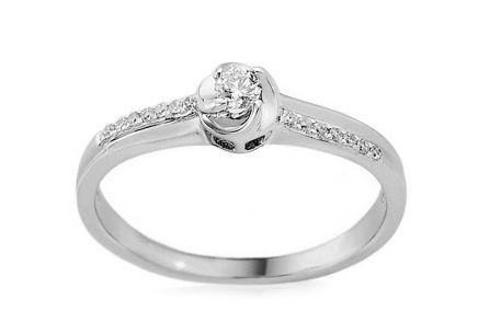 Gold Engagement Ring with Diamonds Kailea white
