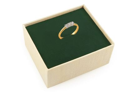 Gold Engagement Ring with Diamonds Lexis
