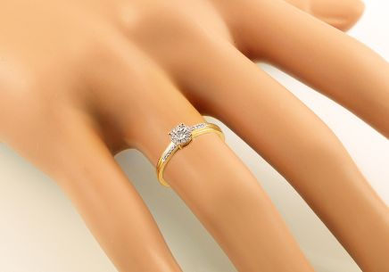 Gold Engagement Ring with Diamonds Loralei