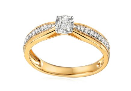 Gold Engagement Ring with Diamonds Maya 1