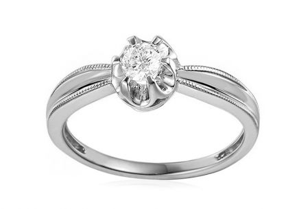 Gold Engagement Ring with Diamonds Mireya white