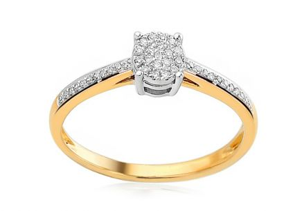 Gold Engagement Ring with Diamonds Tatya