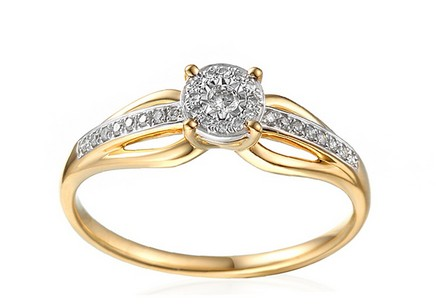 Gold Engagement Ring with Diamonds Ysabelle