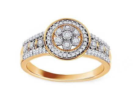 Gold Ring with Brilliants Shyla
