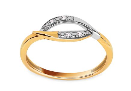 Gold Ring with Diamonds Alair