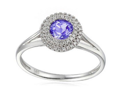 Gold Ring with Tanzanite and Diamonds Charlotta
