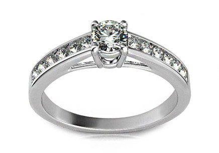 Luxurious Engagement Ring with Diamond 0,500 ct Ardiente