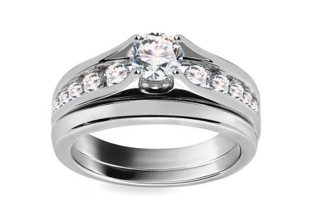 Luxurious Engagement Ring with Diamonds 1.00ct H/Si