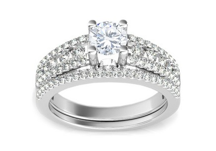 Luxury Engagement Ring with 1.100 ct Diamonds Ardiente white