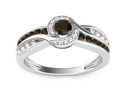 Luxury Ring with 0,630 ct Black Diamonds Black Lagoon