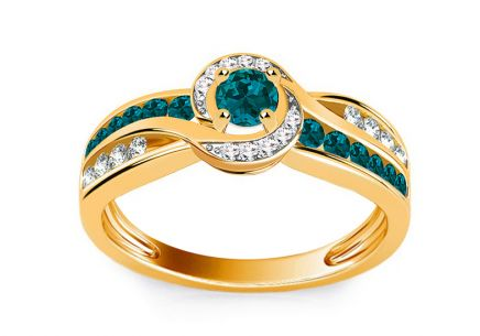 Luxury Ring with 0,640 ct Blue Diamonds Blue Lagoon