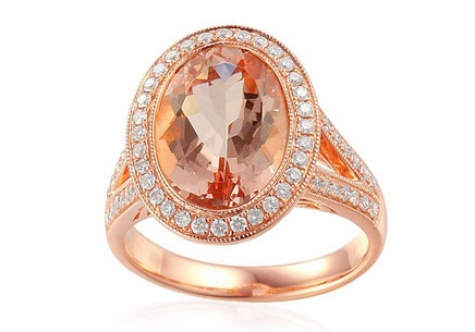 Ring with Morganite and Diamonds Odette