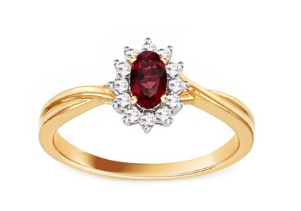 Ruby Ring with 0,110 ct Diamonds Brienne