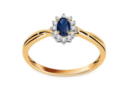 Sapphire Ring with 0,100 ct Brilliants Mio