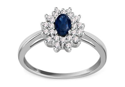 Sapphire Ring with Diamonds 0,190 ct Jeyne 2