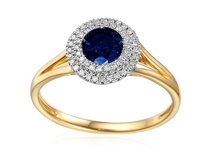 Sapphire Ring with Diamonds Tyene