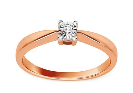 Engagement Ring with Diamond 0,020 ct Mariya