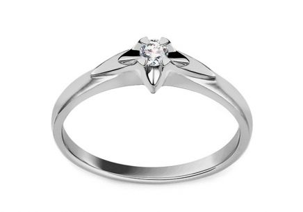 Engagement Ring with Diamond 0,100 ct Always