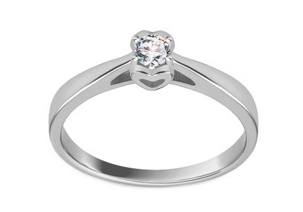 White Gold and Diamond Engagement Ring 0.100 ct