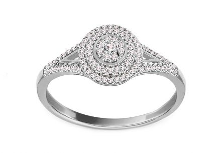 White Gold and Diamond Engagement Ring 0.150 ct Gwenn