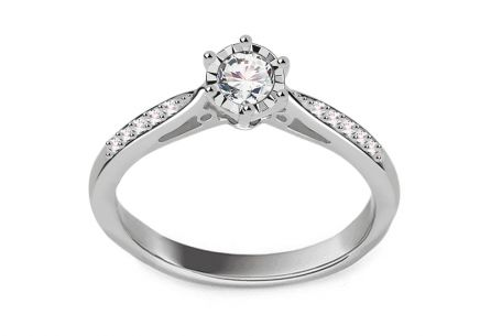 White Gold Brilliant Engagement Ring 0.250 ct