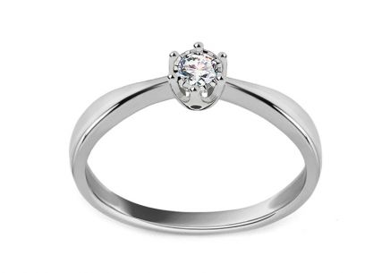 White gold engagement ring with 0.050 ct diamond