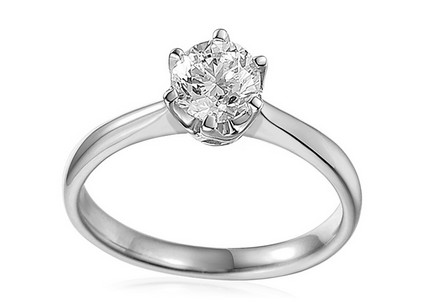 White Gold Engagement Ring with 1.010 ct IGI Diamond Donna