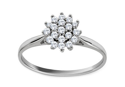 White Gold Engagement Ring with Brilliants Susan
