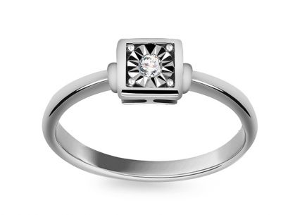 White Gold Engagement Ring with Diamond 0.030 ct Goata