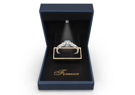 White Gold Engagement Ring with Diamond 0,060 ct Melosia