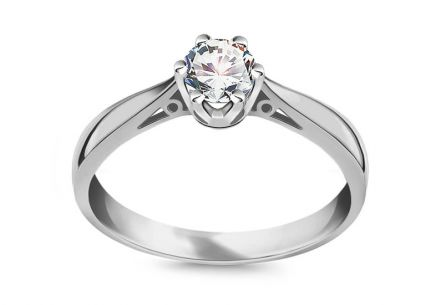 White Gold Engagement Ring with Diamond 0.400 ct