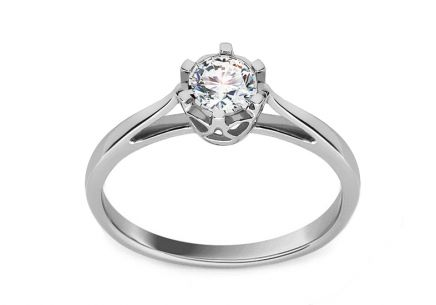 White Gold Engagement Ring with Diamond Allene