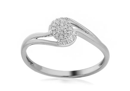 White Gold Engagement Ring with Diamonds 0.070 ct Edyth