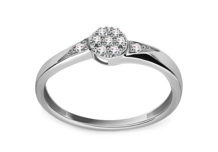 White Gold Engagement Ring with Diamonds 0.070 ct Lucena